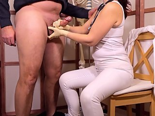 Doctor Cock helps me with my Big Balls (Gloves Handjob)