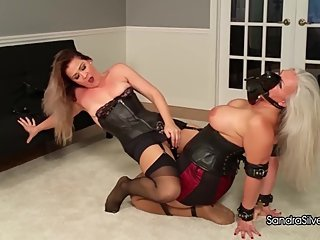 2169 Submissive MILF Strapped, Shoe-gagged, Molested by Sexy Mistress!