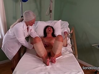 2172 Doctor Sandra Mercilessly Administers Tickle Therapy to Naked Patient!