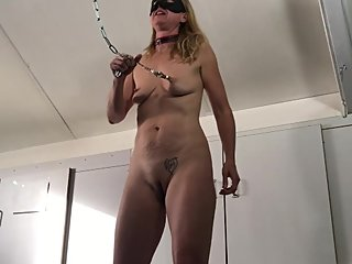 60 Seconds CUM CHALLENGE Painslut Ripping off Nipple Clamps