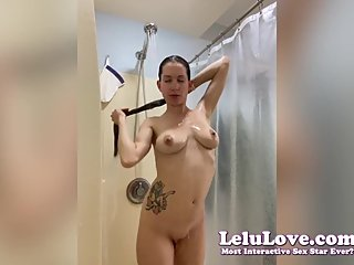 Washing my hair in shower then naked brushing & blow drying - Lelu Love