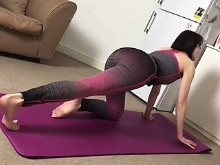 Camilla Tootsie Doing Yoga (Hidden Cam)