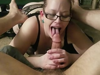 PAWG MILF is back sucking my monster cock!