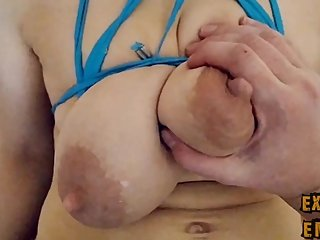 Hard sex with big bound tits milf POV.