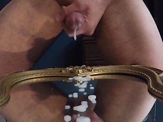 watch my big throbbing Precum oozing cock grow then MASSIVE CUMSHOT