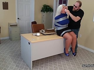 2184 Sweater Secretaries in Duct Tape Hogtie Torment Ц Breasts Exposed!