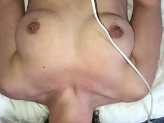 Open Mouth Tunnel Ring Gag Blowjob Facefuck until he Cums in MILFСs Mouth