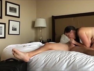 Sexy wife with hot body pleasing her new boss for promotion